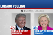 Trump gains on Clinton in the polls