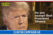 New Clinton ad hits Trump on 'birther'...