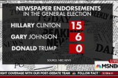 Republican-leaning newspapers opposing Trump