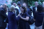 Hillary Clinton arrives at 9/11 ceremony