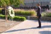 Obama lays wreath at Pentagon in honor of...