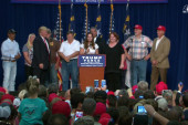 Trump supporters take stage at NC rally