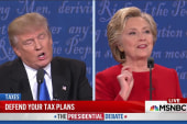 Trump unable to resist interrupting Clinton