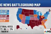 Clinton takes lead in battleground states