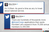 Clinton camp mocks Trump with 3AM tweet storm