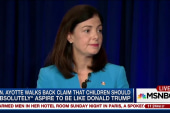 Sen. Ayotte asked if Trump is a role model