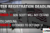 Will Florida extend voter registration...