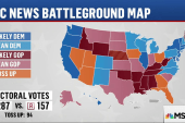 Clinton expanding lead in battleground map