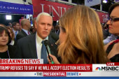 Pence falls in line with Trump on concession