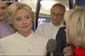 Clinton speaks to press after final debate