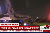 Mike Pence's plane slides off NYC runway