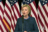 Clinton responds to FBI email announcement