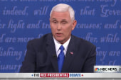 Pence: 'Your running mate uses a lot of...