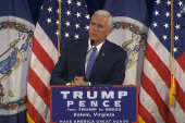 Pence reads aloud Podesta's email at rally