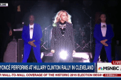 Beyoncé on stage for Clinton in Cleveland:...