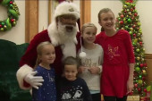 Santa Larry comes to AM JOY!