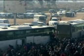 Buses continue leaving Aleppo after delays