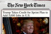 Trump takes credit for Sprint jobs in US