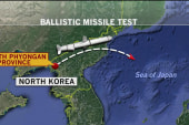 North Korea launches missile test