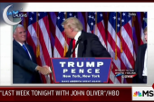 'John Oliver' pokes fun at Trump's handshakes