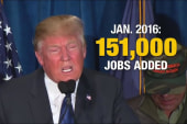 What has Trump said about jobs numbers in...