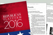 GOP platform tweak: 'Normal' or not?