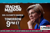 Senator Warren joins Rachel Maddow Wednesday