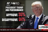 Trump approval at 35 percent, GOP approval...