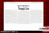 NYT lists every lie Trump has told as...