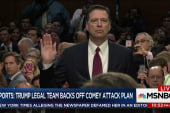 Reports: Trump legal team backs off Comey...