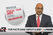 U.S. budget deficits:  How much debt is...