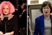 Cyndi Lauper Gives Sen. Susan Collins...