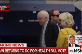 McCain Returns to Capitol Hill for Health...