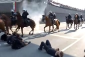 Police Horses Move in on G-20 Protesters