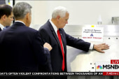 Mike Pence ignores 'Do Not Touch' sign