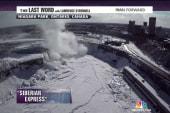 Winter chill freezes Niagara Falls