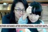 Mother detained after int'l custody battle