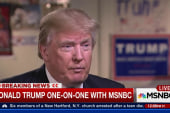 Trump goes one-on-one with MSNBC