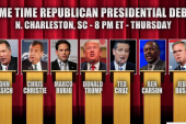 Candidates bumped from sixth GOP debate