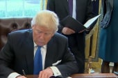 Trump signs pipeline orders