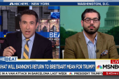 Ari Melber presses Breitbart editor on...
