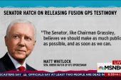 Hatch a yes on Fusion GPS transcript release