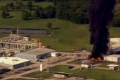 Smoke from chemical plant fires caused by...