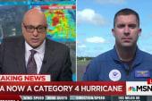 Meet pilot who flew into Hurricane Irma