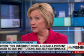 Clinton: Trump a clear and present danger
