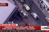 London 'terrorist incident' injures commuters
