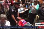 Protest arrests at Health care repeal hearing
