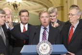 Handful of GOP senators hold latest health...