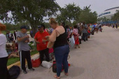 Evacuees Finding Long Lines at Florida...
