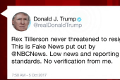 Trump continues tweets about Tillerson...